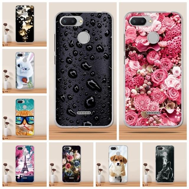 ea8af3c81ff Case for Xiaomi Redmi 6 Case Silicone Soft Tpu Phone Case for Xiaomi Redmi  4X 5 plus Note 5 Pro Case Cover 3D Fundas Coque Capas