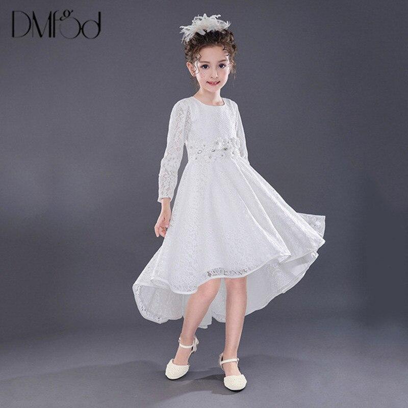 Одежда с длинным рукавом Платья для женщин для маленьких детей для девочек День рождения вечернее торжественное платье принцессы нерегуля...
