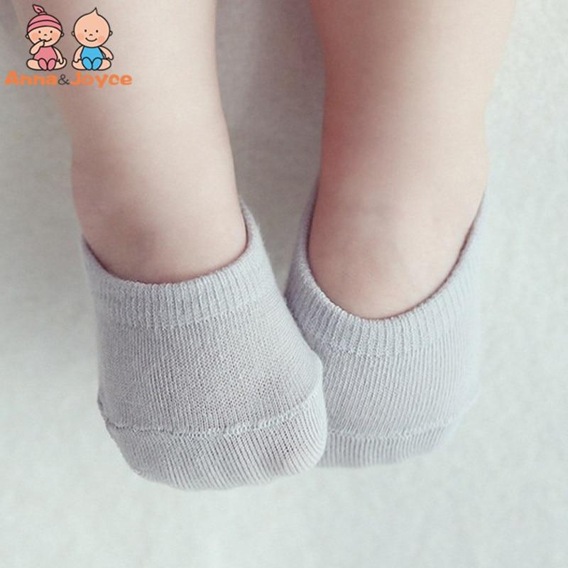 5Pairs/Lot Children's Invisible Boat Socks Baby Non Slip Socks Cotton Sock For Girl  Boy 5