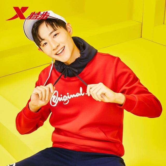 881129059342 Xtep men's hoodies sweater autumn new hoodies sweater trend fashion men's sportwear casual streel sweaters for men 3