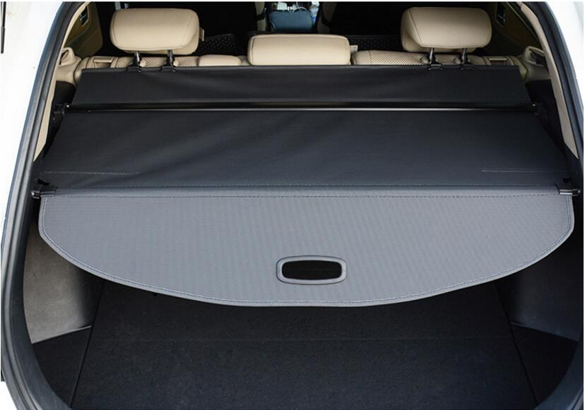 Car Rear Trunk Security Shield Shade Cargo Cover For Subaru OUTBACK 2011 2012 2013 2014/ 2015 2016 2017 (Black beige) car rear trunk security shield cargo cover for subaru tribeca 2006 07 08 09 10 11 2012 high qualit black beige auto accessories
