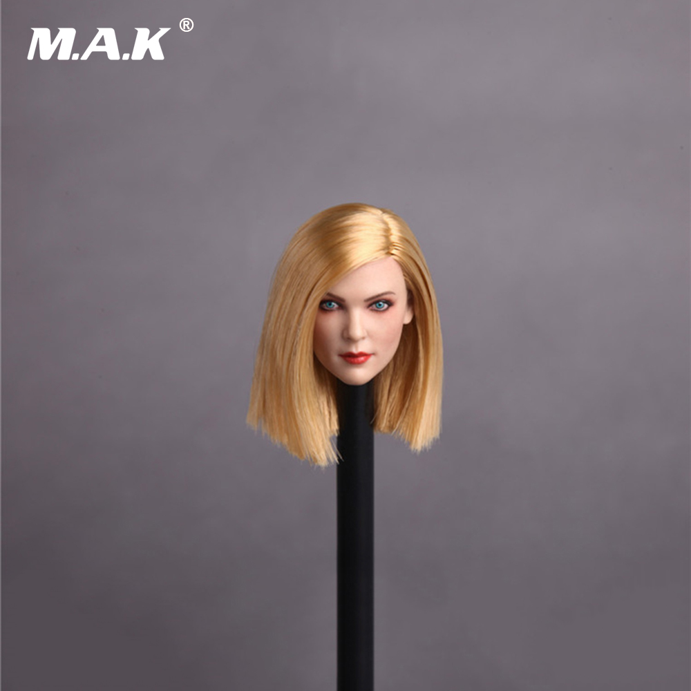 1/6 Scale GC006 D Style Womens Head Sculpt with Straight Long Blond Hair for 12 Inches Figures Bodies цена в Москве и Питере