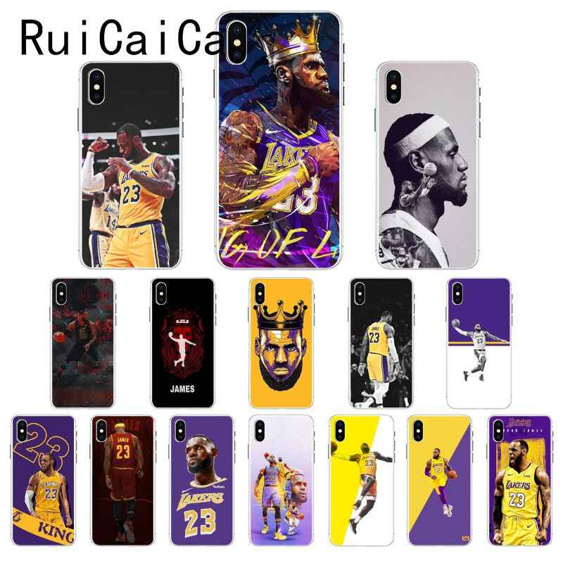 Ruicaica Basketball LeBron James 23 Coque Shell Phone Case for iPhone 8 7 6 6S Plus X XS MAX 5 5S SE XR 10 Cover