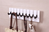 Fashion piano design 5 /7 Hooks Towel Hat Coat Clothes Wall Mount Rack Hanger