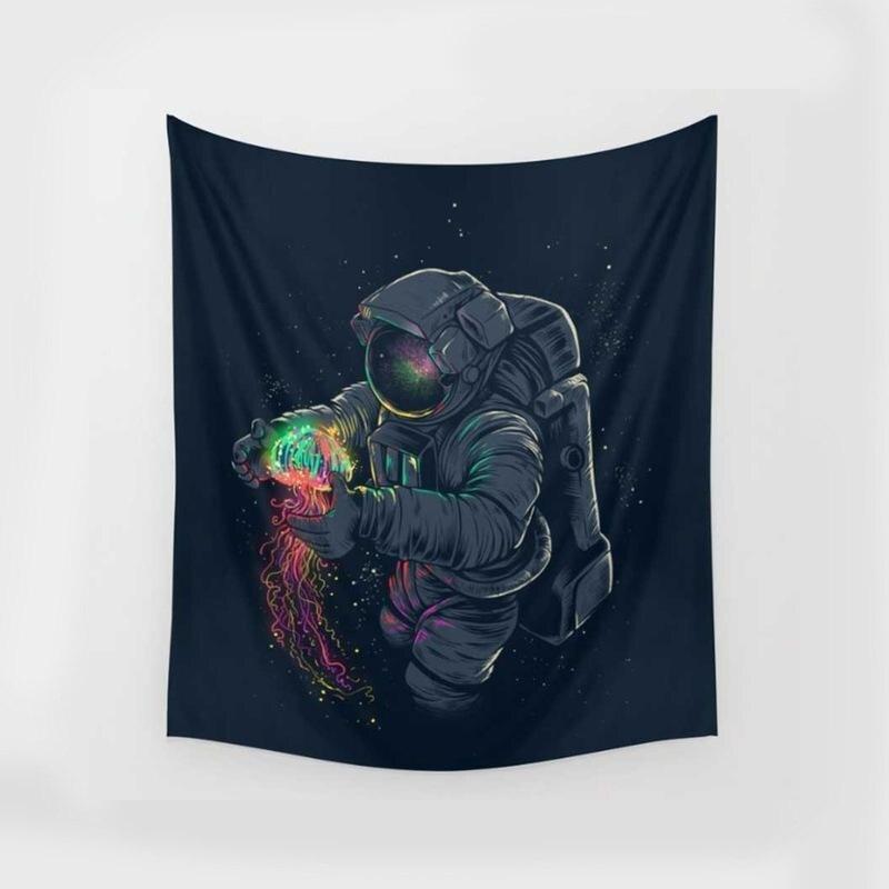 Lion Vögel Auge Floral Astronauten Wandteppiche Bunte Psychedelic Indian Tapisserie Wandbehang Gedruckt Dekoration