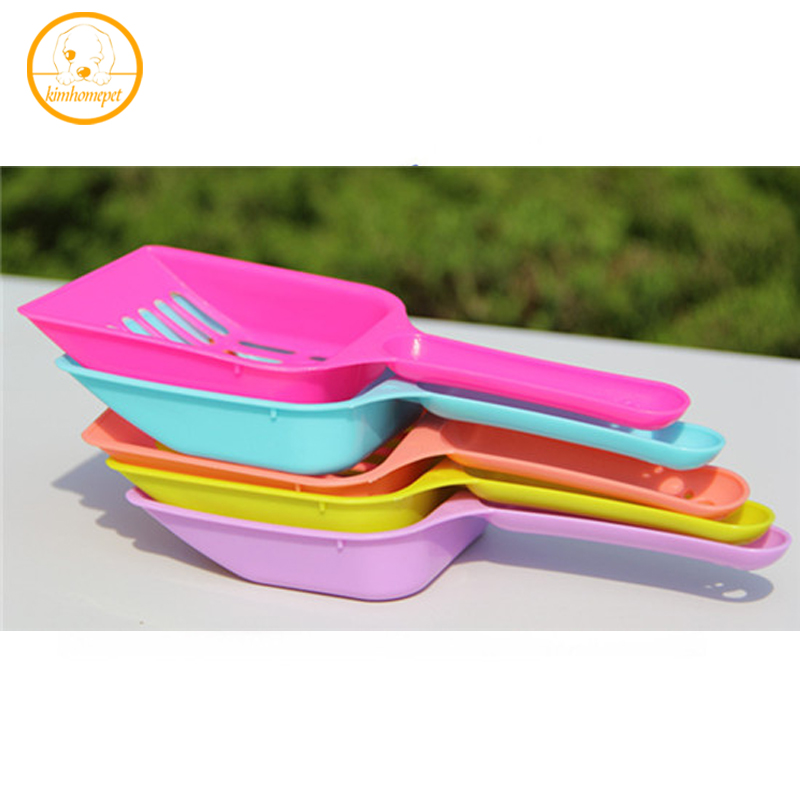 New Pet Dog Cat Kitten Sand Waste Scooper Shovel Plastic Litter Scoop Pet Cleaning Tool Pick Up Dispenser Supplies Ph26
