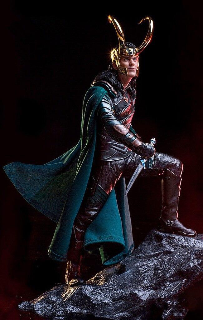 Avengers Thor Ragnarok Rocheux Loki Statue 1/6 Échelle Action Figure Collection Modèle Jouet Poupée EE0