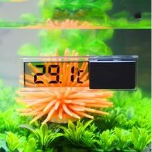 ЖК-дисплей 3D цифровое электронное измерение температуры аквариум темп метр аквариумный термометр контроль температуры аксессуары