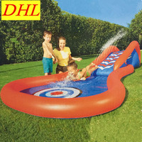 Large Scale Inflatable Slide Pool Sports Swimming Pool Game WATER PARK Outdoor Sunbathe Life Buoy Sea Party L1940