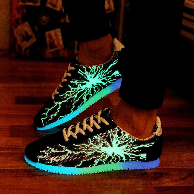 dc284c6fbfa4 Online Shop Led Shoes For Adult 2016 Summer Light Up Adult Shoes Women  Casual Luminous Shoes