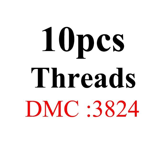 Snowlover, рукоделие, 10 шт./лот, 1,2 м, разные цвета, DMC3824-3848, вышивка крестиком, хлопковое шитье, моток пряжи, нить для вышивки - Цвет: 1.2mthread-DMC3824