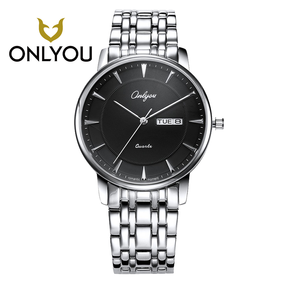 ONLYOU Man Watch Fashion Business Laisure Women Rosegold Watches Top Brand Luxury Waterproof Wristwatch Quartz Male Clock onlyou brand luxury fashion watches women men quartz watch high quality stainless steel wristwatches ladies dress watch 8892