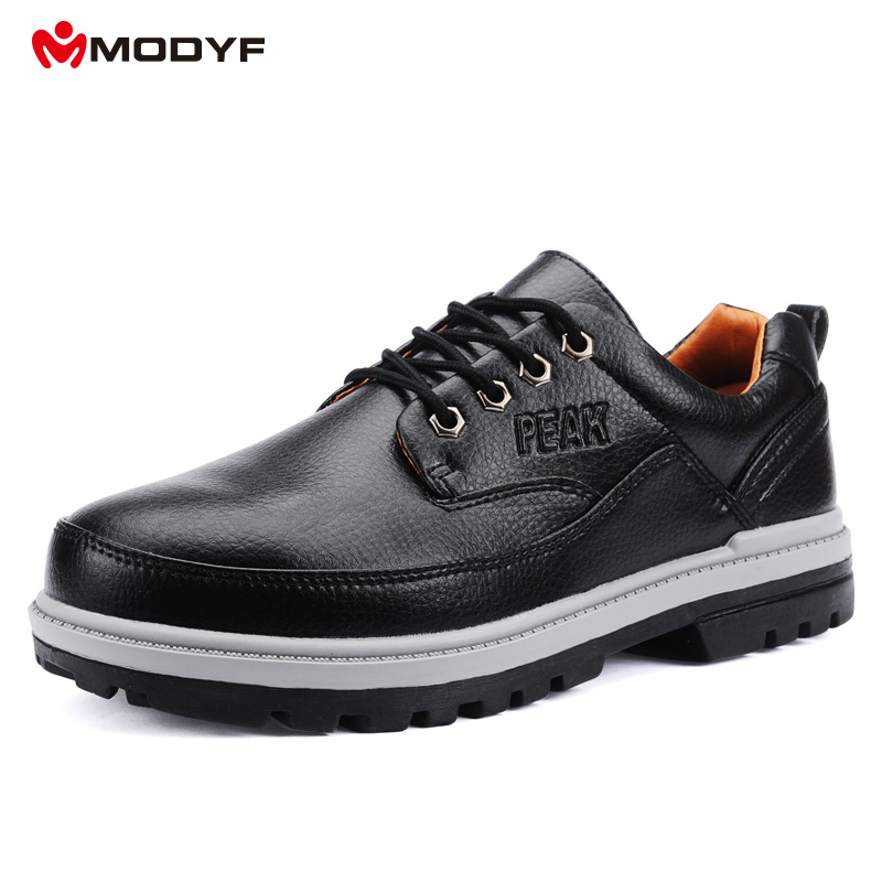 ФОТО Men's steel toe cap safety shoes outdoor anti-kick boots workshop casual leather wear