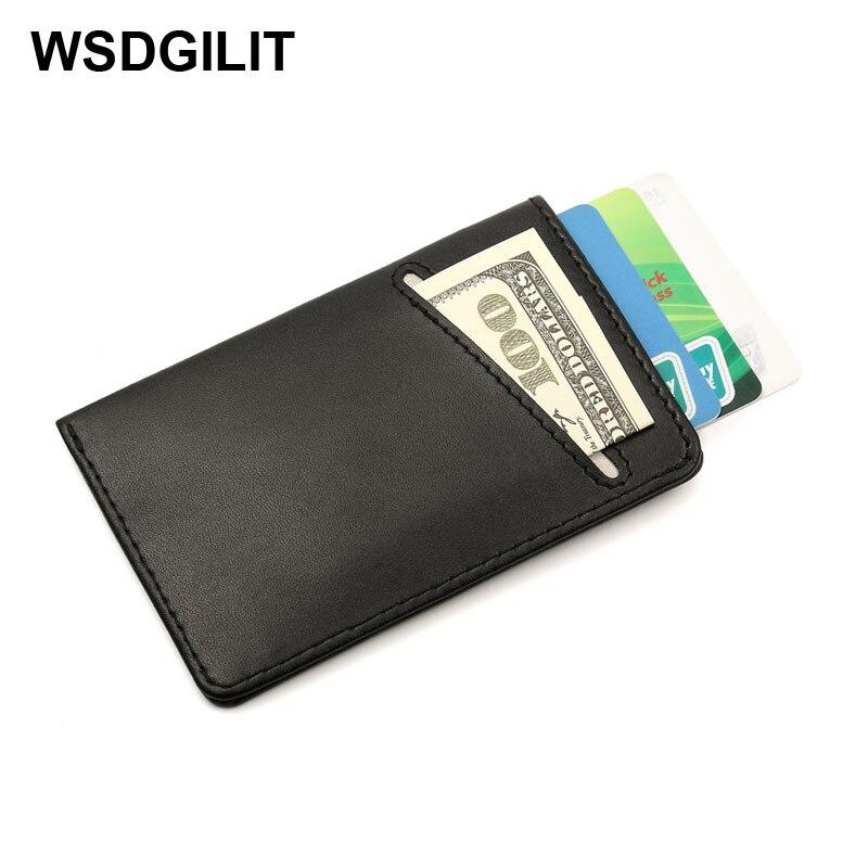 Pulled Design Men Slim Wallet Business Card Holder DAX Rfid ...