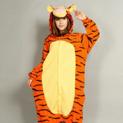 new adult tigger onesies fleece animal cosplay pyjamas pajamas women men halloween cosplay costumes lovely jumper tiger jumpsuit - Tiger For Halloween