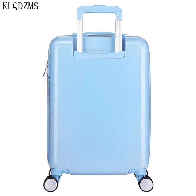 KLQDZMS 20 inches children cartoon ABS+PC rolling luggage trolley suitcase cute snow white travel bag for girls 5