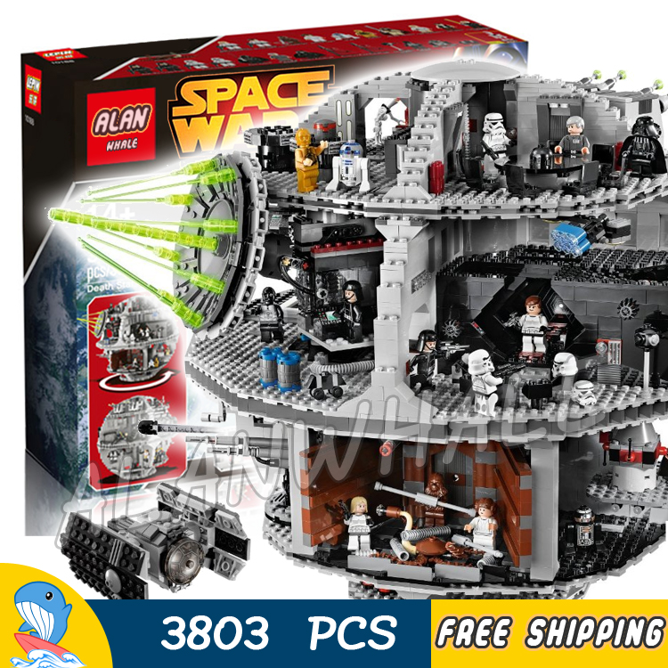 3803pcs Space wars Death Star DIY 05035 Model Building Blocks Sets Gifts Bricks Great Scale Teenagers Toys Compatible with Lego 2015 high quality spaceship building blocks compatible with lego star war ship fighter scale model bricks toys christmas gift