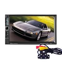7In HD 2 Din Touch Screen Bluetooth Stereo Radio FM 1080P MP5 MP4 MP3 Audio USB