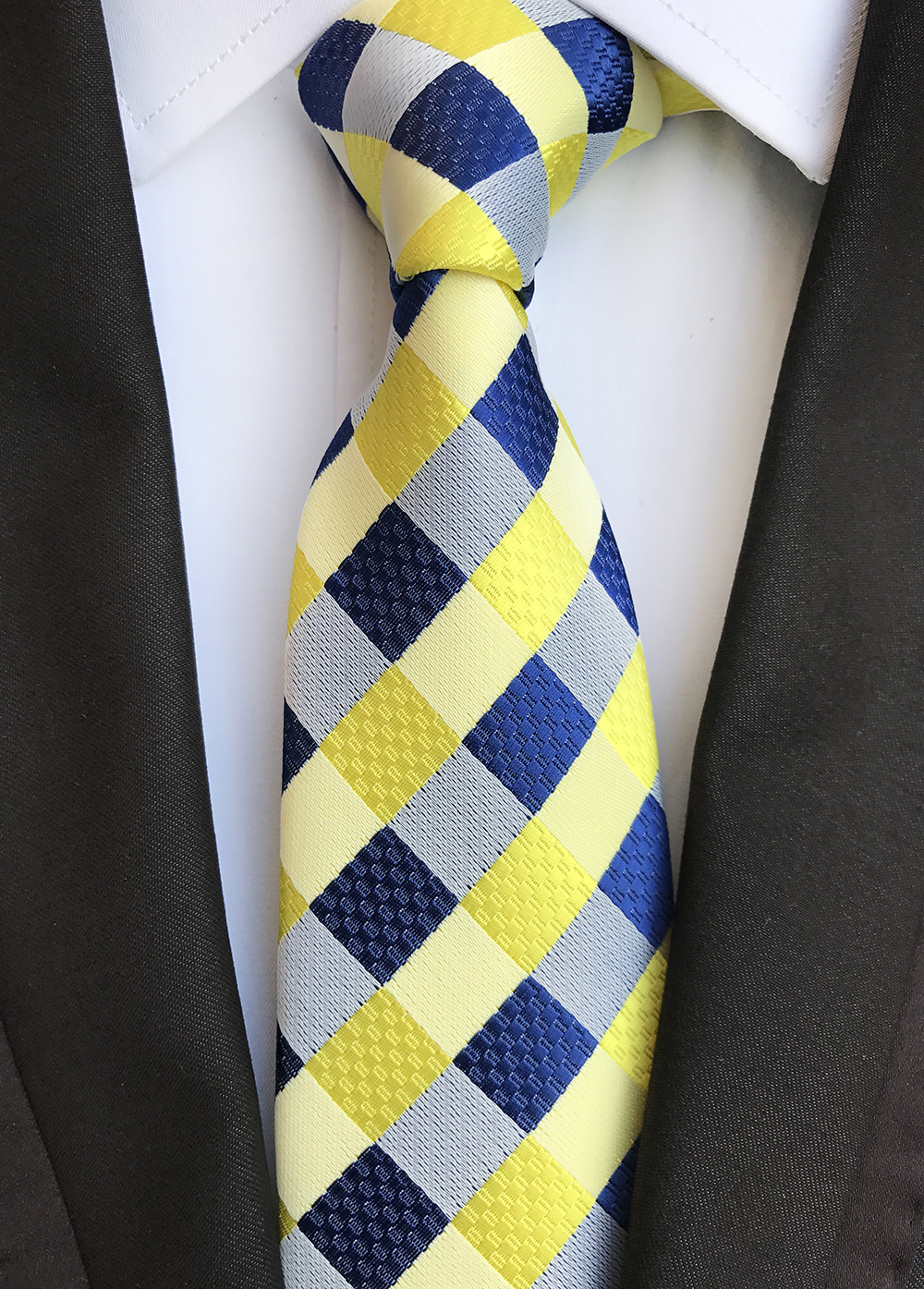 Classic 8cm Ties for Man 100 Silk Tie Luxury Striped Plaid Checks Business Neck Tie for Men Suit Cravat Wedding Party Neckties in Men 39 s Ties amp Handkerchiefs from Apparel Accessories