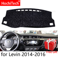 Rose Pattern Non slip Dashmat Dash Mat Dashboard Cover Pad Cover Carpet Car Sticker for Toyota levin 2014 2015 2019 Car Styling