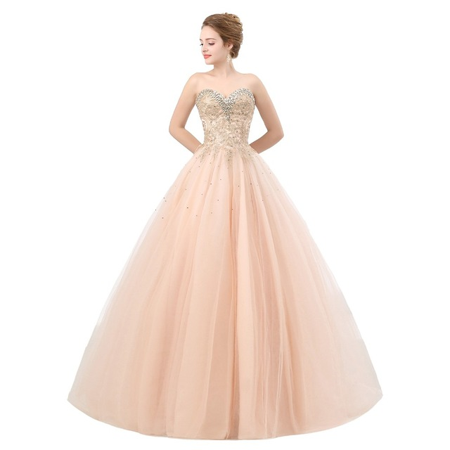 ANGELSBRIDEP Pink Quinceanera Dresses Tulle Crystal Beaded Masquerade Ball  Gown Women Formal Debutante Gowns Vestidos De 15 Anos e637f6a9b584