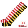Alargamiento de Navidad rojo y blanco raya ancha calcetines del muslo cosplay Japonés de rol