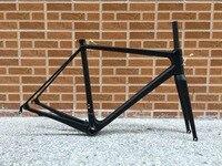 Классический дизайн FASTERWAY PRO полный черный с Нет логотипа углеродного набор рам для дорожных велосипедов: карбоновая рама + + подседельный ви