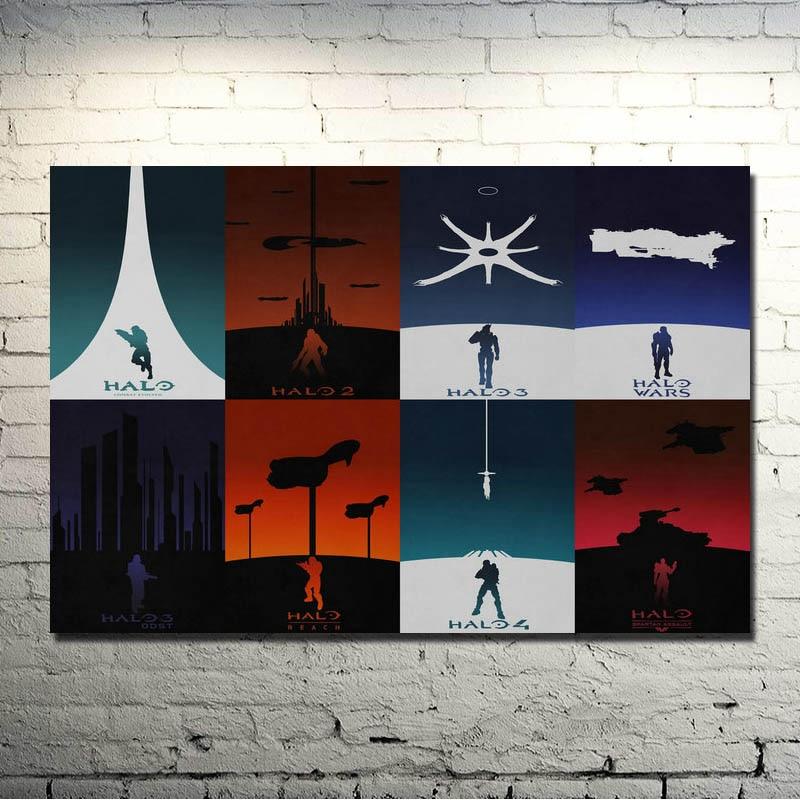 POPIGIST HALO 4 5 Juego De Seda Del Arte Poster Master Chief Imprimir 13x20 24X36