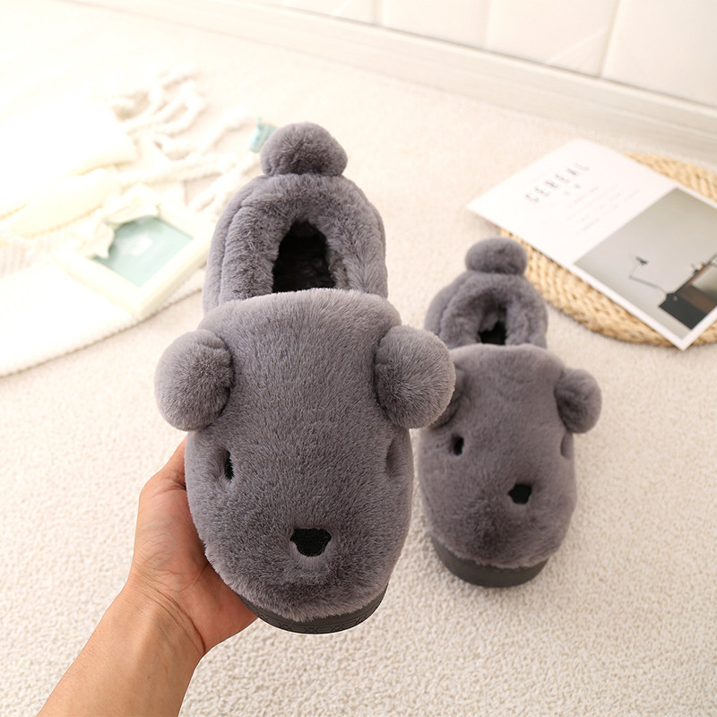 Autumn Winter Children Girls Boys Home Slipplers Shoes Kids Baby Cute Ball Kids Cotton Slippers Warming