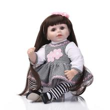22in 55cm High Quality Silicone Reborn Babies Lifelike Reborn Newborn Babies Mini Doll Brinquedos On Sale