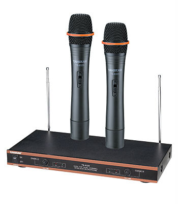 hot new takstar ts 6320 vhf wireless microphone system professional vhf karaoke engineering. Black Bedroom Furniture Sets. Home Design Ideas