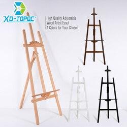 XINDI شركة قابل للتعديل الصنوبر الخشب الفن اللوحة الحامل 4 ألوان خشبية السلس رسم الفنان الحوامل ل وحة الرسم و السبورة WE01