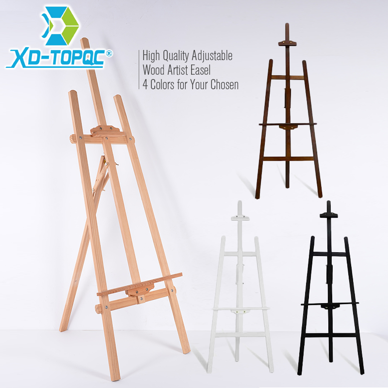 XINDI Adjustable Pine Wood Art Painting Easel 4 Colors Wooden Smooth Sketch Artist Easels For Drawing Board & Blackboard WE01