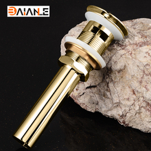 цена на Bathroom Basin Sink Drainer Push Down Pop-Up Drain Overflow Antique/Gold/Rose gold/Chrome Brass