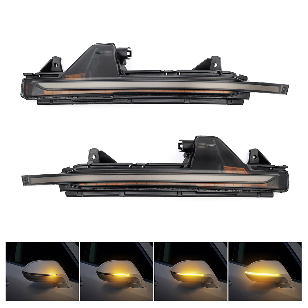 2 pcs LED Water Flowing Turn Single Light Rear View Dynamic Sequential MIRROR Turn Signal Light