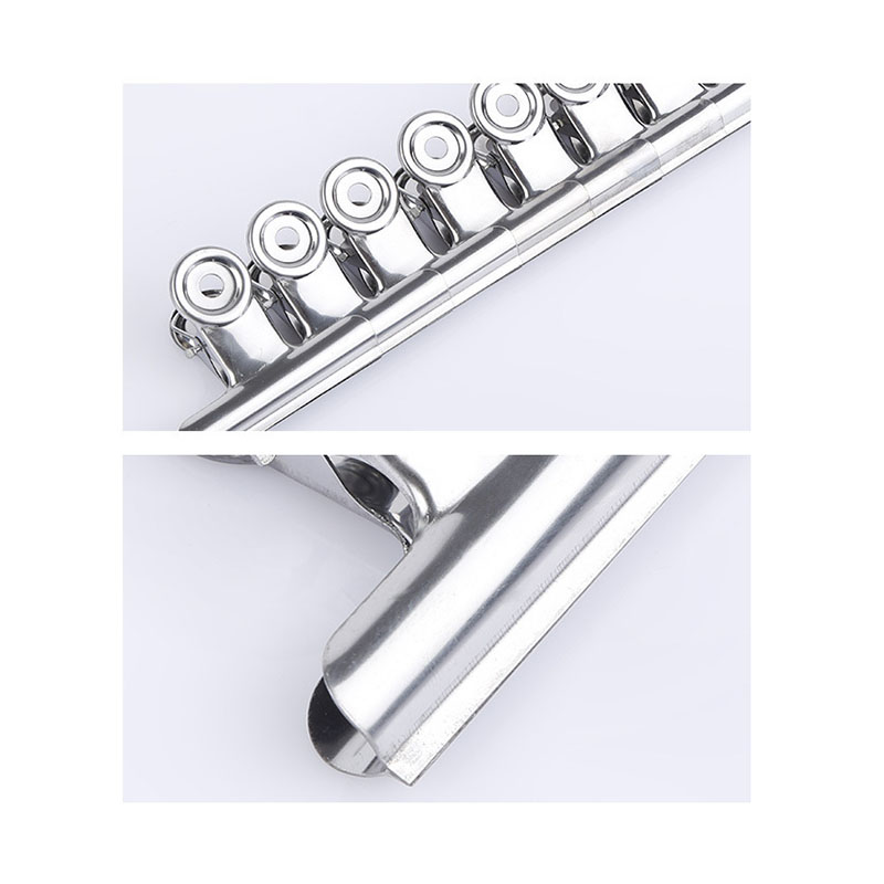 6Pcs C Curve Nail Pinching For Nails Tips Extension Silver Color Stainless Steel Acrylic Nail Finger Clips For Nail Design