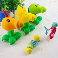 Hot Christmas Gifts Popular Game PVZ Plants vs Zombies Peashooter  Action Figure Anime PVC Model Toys For Children