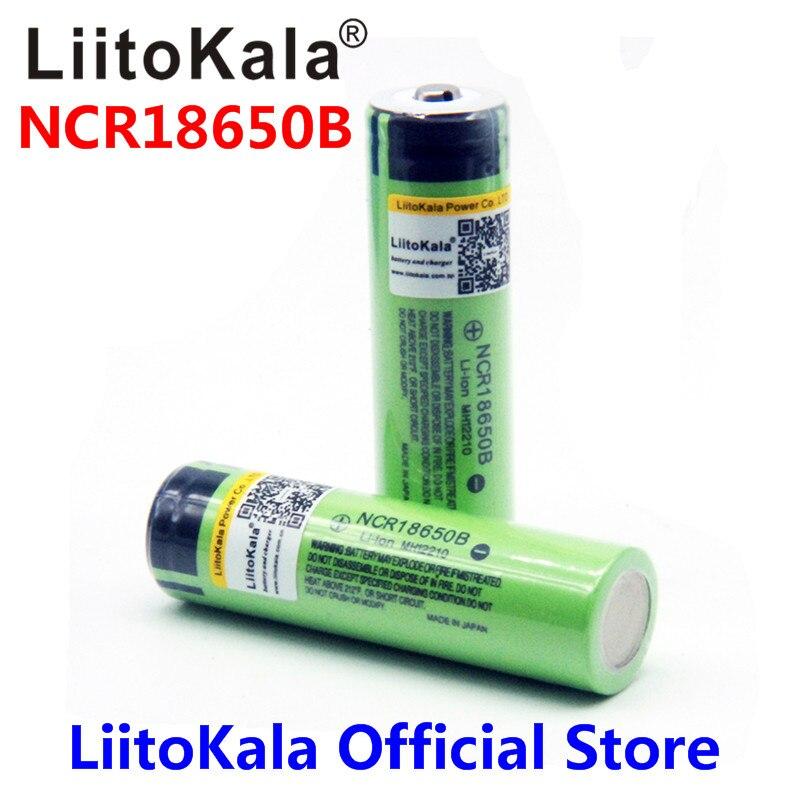2018 liitokala 100% Neue Original NCR18650B 3,7 v 3400 mah 18650 Lithium-Akku Für Taschenlampe batterien (KEINE PCB)