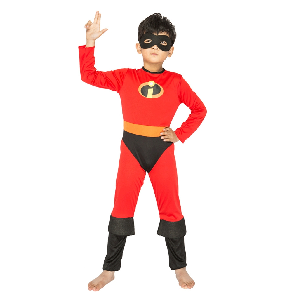 Findpitaya The Incredibles 2 Cosplay Kids Costume Parr Dash Parr Spandex Super Hero Jumpsuit Bodysuit Boys Halloween Gifts