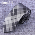 6cm Wide Mens Accessories Plaid Pattern Business Polyester Silk High Quality Tie Necktie for Men Wedding Suit Jacquard Ties