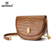 GENMEO New Arrival Cow Leather Luxury Women Bags Female Fashion Handbag with Chain Shoulder Strap Bolsa Feminina