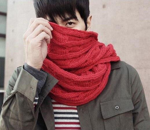 2016 мужской зимний шарф ручной работы толстые влюбленных шарф мужская вязаные шарфы моды мужской шарф бесплатная доставка