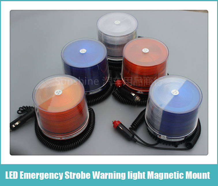 цены  Free Shipping 12V Auto Emergency Strobe Warning light Working LED Strobe Safety Flasher Warning Light / Magnetic Mount / Plug