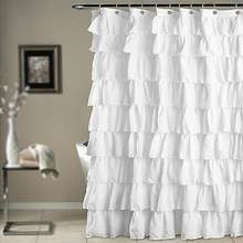 180 Cm Rüschen Dusche Vorhang Polyester Wasserdicht Bad Bad Vorhang  Bildschirm(China)