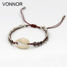 VONNOR Bracelets Gifts for Women Jewelry Shell friendship Bracelet Female Girl Bohemian Accessories Dropshipping