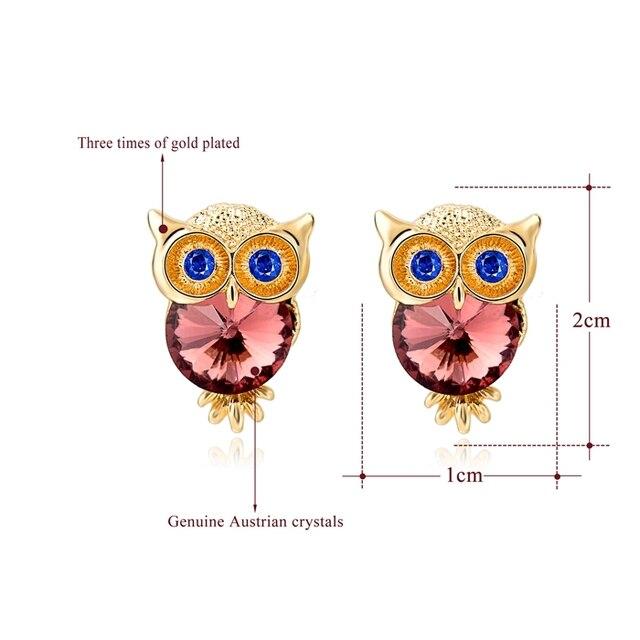 Toucheart новые брендовые серьги с кристаллами в виде совы для