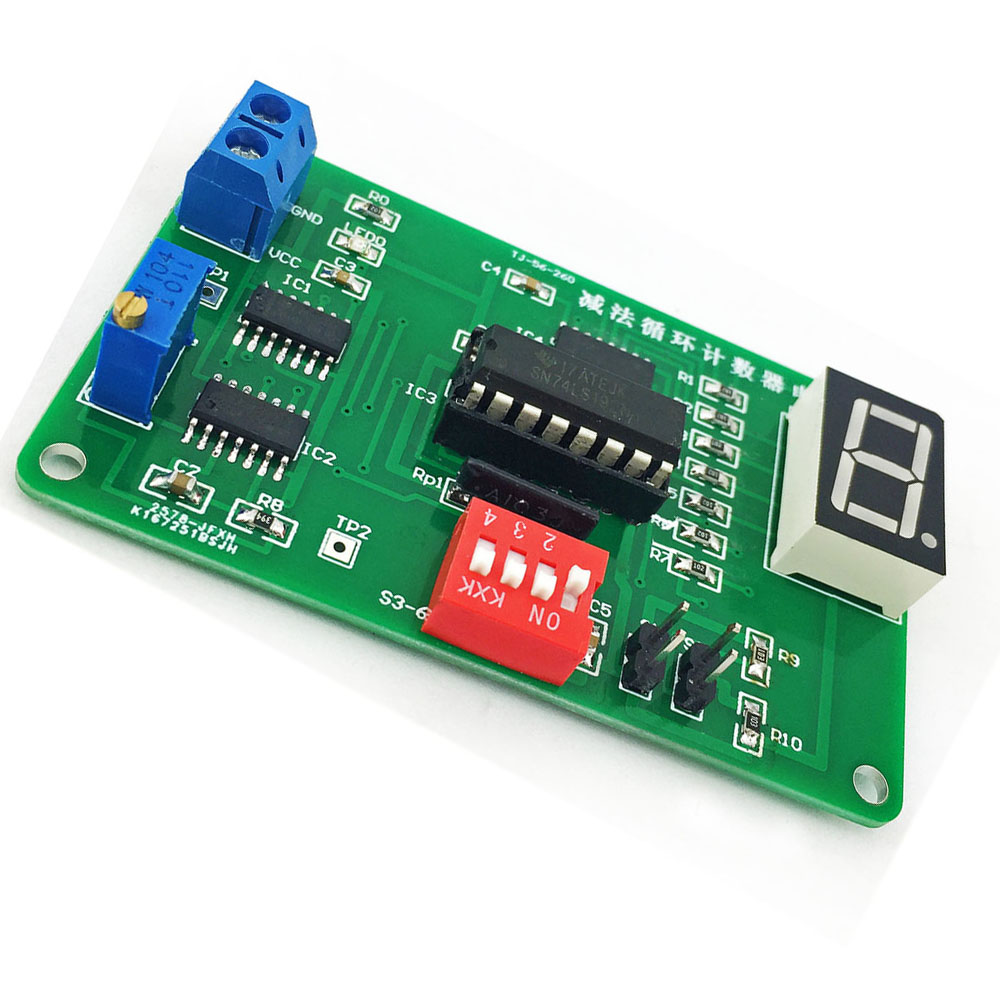 Cnikesin Diy Subtraction Loop Counter Circuit Kit 74ls192 Parts With Touch Switch Using Cd4011 Electronic Circuits And Diagram 001 002