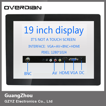 """19inch/19""""VGA/HDMI/BNC/AV Interface Industrial Control Lcd Non-Touch Screen Monitor Metal Shell Buckle Fixed 1280*1024"""