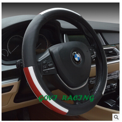 universal car Steering wheel cover leather with 38cm pvc leather fashionable for car stying car steering-wheel car covers