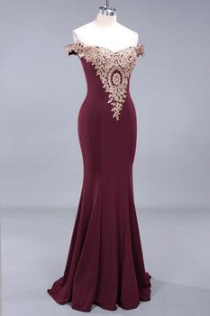 New Arrival Burgundy Lace Mermaid Prom Dresses Long Sexy Open Back Cap Sleeve Evening Party Dresses Vestido de Festa 3